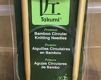 Size 7 US 16 Inch Clover Takumi Bamboo Fixed Circular Knitting Needles
