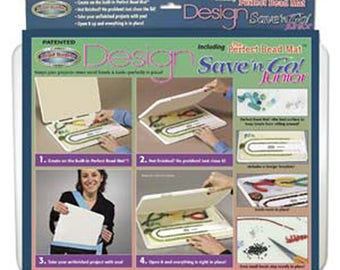 Design Board Save and Go Junior Beading Board and Project Storage 12x9x1 inches