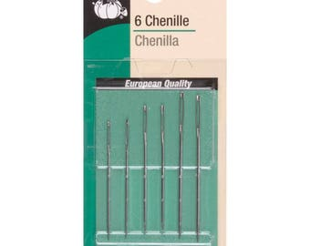 Chenille Hand Needles for Silk Ribbon Embroidery and Heavy Embroidery 6 Needles
