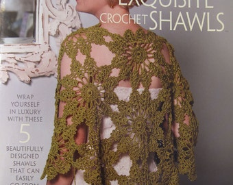 Exquisite Crochet Shawls 5 Designs Casual to Dressy by Cristina Mershon