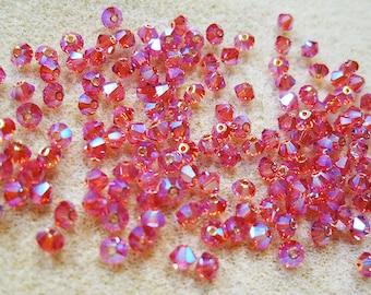 Indian Pink 5328 Bicone Swarovski Crystal Beads 4mm 24 pcs