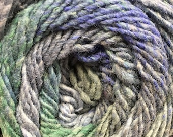 Melilla Silk Wool Nylon Yarn Sea Glass colors 220 yards Worsted Weight Color 13