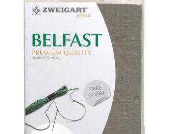 """Zweigart Belfast Cross Stitch Fabric Raw Linen Premium Quality Linen 32 Count 19""""X27"""""""