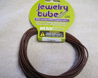 Jewelry Tube for Memory Wire Jelly Bracelets 2mm Brown 5 Yards