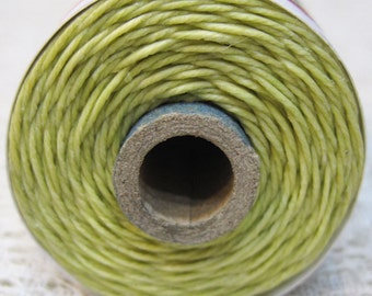 Country Yellow Waxed Linen Cord 4 ply 10 yards for Macrame Kumihimo Knotting .75 width