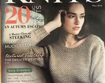 25% OFF Knitting Magazine Interweave Knits Fall 2016 issue Autumn Escape Classic Knits Textured Heathers Traditional Wool Essential Tools