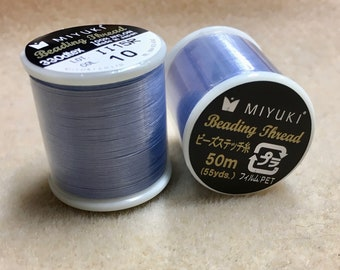 Light Blue Miyuki Nylon Japanese Beading Thread 55 yards