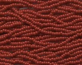 8/0 Dark Red Opaque Genuine Czech Glass Preciosa Rocaille Seed Beads 39 grams