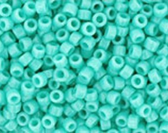 15/0 Opaque Turquoise Toho Glass Seed Beads 2.5 inch tube 8 grams TR-15-55