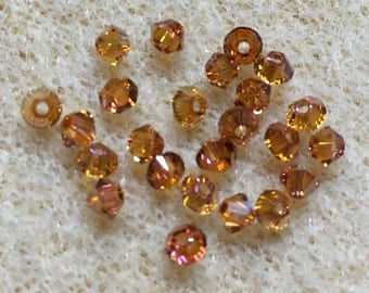Crystal Copper 5328 Bicone Swarovski Crystal Beads 4mm 24 beads