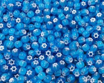 6/0 Aqua Preciosa Ornela Star Cornelian Rocaille Seed Beads 4mm 12 grams