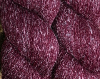 New Eco Hemp 80 Percent Peruvian Highland Wool and 20 Percent Hemp Yarn by Cascade DK Weight Rhododendron Color 15