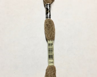 DMC C840 Medium Beige Brown Etoile Embroidery Floss 1 Skein 6 Strand Thread for Embroidery Cross Stitch Sewing Beading