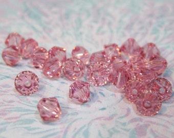 Light Rose 5328 Bicone Swarovski Crystal Beads 4mm 24 beads