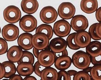 O Beads Copper Czech Glass Donut Ring Beads 3.8 x 1mm 8.1 grams