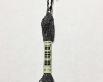 DMC C3799 Very Dark Pewter Grey Etoile Embroidery Floss 1 Skein 6 Strand Thread for Embroidery Cross Stitch Sewing Beading