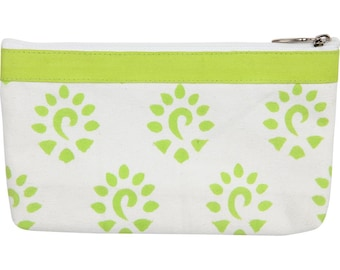 """Knitter's Pride Small Fabric Zipper Pouch 6"""" x 8.5"""" with See Through Front"""
