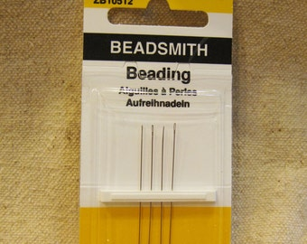 Beadsmith English Beading Needles Pack of 4 Size 12