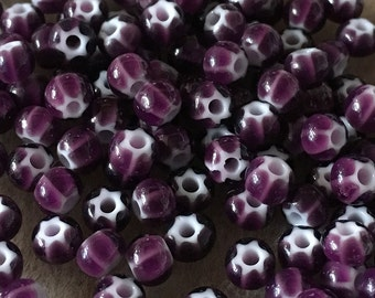6/0 Purple Preciosa Ornela Star Cornelian Rocaille Seed Beads 4mm 12 grams