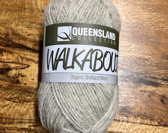 Ivory Walkabout Organic Shetland Wool by Queensland Collection Sport Weight Certified Organic 157 yards Color 12