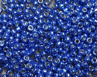 11/0 Perma Finish Blue Toho Glass Seed Beads 6 inch tube 28 grams P495G