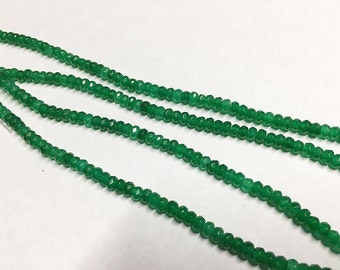 Dyed Jade 4x3mm Green Faceted Rondelles 8 inch Strand
