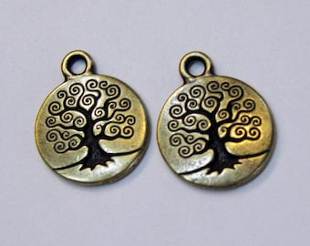 TierraCast Antique Bronze Tree of Life Charms 19mm x 15.5mm One charm F563D