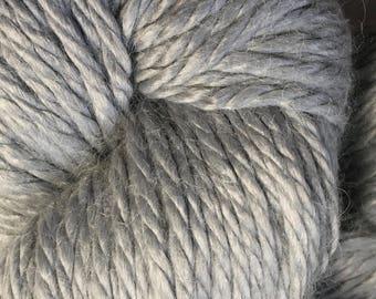 Light Grey Ella Rae Chunky Alpaca Yarn 120 yards 100% SuperWash Alpaca Acrylic Color 501