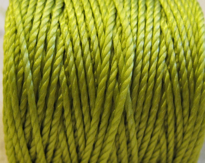 Featured listing image: S-Lon Tex 400 Chartreuse Green Multi Filament Cord 35 yard Spool