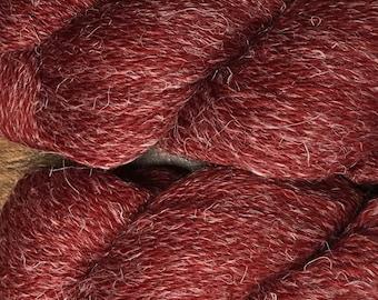 New Eco Hemp 80 Percent Peruvian Highland Wool and 20 Percent Hemp Yarn by Cascade DK Weight Red Dahlia Color 16