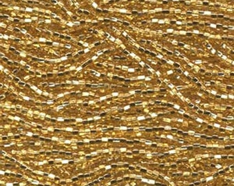 11/0 Straw Gold Silver Lined Genuine Czech Glass Preciosa Rocaille Seed Beads 18 grams