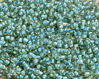 11/0 Topaz Color Lined Seafoam Japanese Seed Beads 6 Inch Tube 28 grams #356F