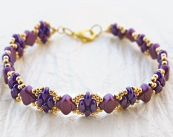 Jewelry Making Kit Iris Shimmer Beadsmith DIY Bracelet Beadweaving Bead Embroidery All Materials Included