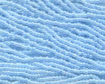 11/0 Light Blue Ceylon AB Preciosa Rocaille Czech Glass Seed Beads 18 grams
