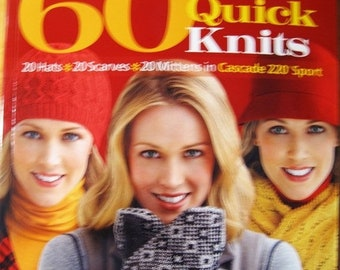 25% OFF 60 More Quick Knits 20 Hats 20 Scarves 20 Mittens Book Knitting Patterns for Sport Weight Yarns