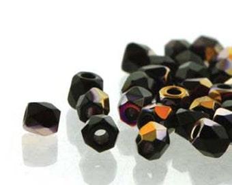 Jet Sliperit 2mm True Fire Polish Czech Glass Crystal Beads 100 beads