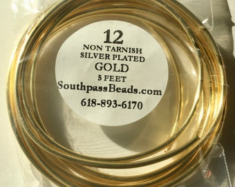 12 gauge Non Tarnish Gold Copper Craft Wire 5 ft