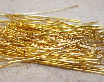Clearance 2 Inch Gold Plated 2 inch Headpins 21 gauge 100 pcs F336