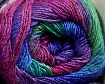 Jewels Purple Green Blue Cascade Melilla Fingering Yarn 437 yards Super Fine Silk Wool Nylon Sock Yarn Color 02