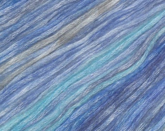 Mystic River Painted Mist Knitting Fever Modal Acrylic Wool 273 yards Blue Grey Turquoise Color #307