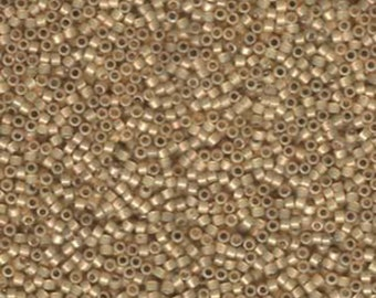 11/0 Miyuki Delica Silver Lined Light Honey Opal Glass Seed Beads 7.2 grams DB1458