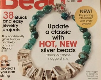 25% OFF Bead Style Magazine Exclusive Beaders Color Wheel Eco Friendly Glass Buttons Pearl Projects Turquoise Necklaces July 2008