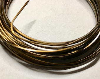 21 gauge Non Tarnish Vintage Bronze Square Craft Wire Made in USA y yards