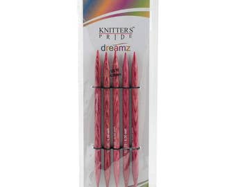 Size 10 Knitters Pride Dreamz Birch Wood Knitting Double Point Needles 5 inch Long Set of 5 needles 6.0mm