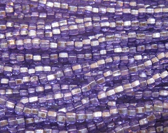 6/0 Sol Gel Amethyst Silver Lined Genuine Preciosa Rocaille Czech Glass Seed Beads