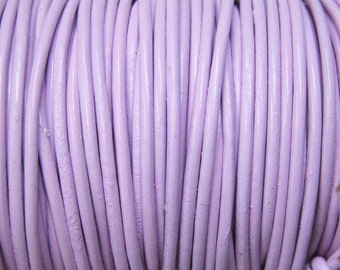 1mm Lilac Round Leather Cord 2 yards for Wrap Bracelets Macrame Knotting Jewelry