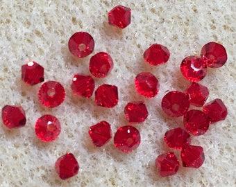 Light Siam 5328 Bicone Swarovski Crystal Beads 3mm