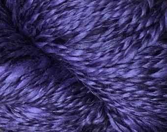 Araucania Lujoso Baby Alpaca Fine Merino Wool Mulberry Silk Worsted Weight Yarn Color 11 Violet Purple 164 yards