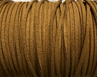 Light Brown Ultra Micro Fiber Suede Faux Suede 2mm 6 yards