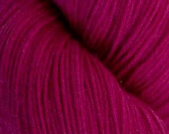 Fuchsia Cascade Heritage Yarn 437 yards Super Fine Wool Nylon Sock Yarn Color 5616